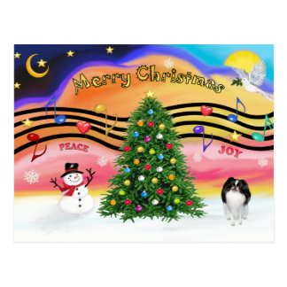 Christmas Music 2 - Japanese Chin Postcard