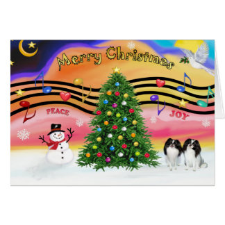 Christmas Music 2 - Japanese Chin (two) Card