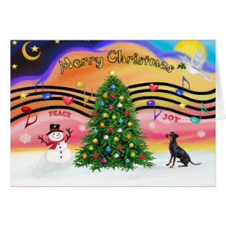 Christmas Music 2 - Manchester Terrier Card