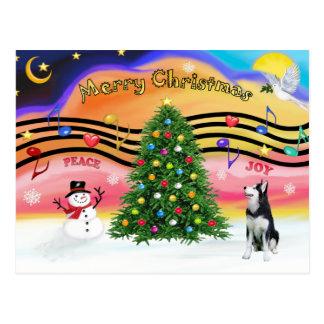 Christmas Music 2 - Siberian Husky Postcard
