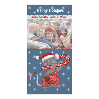 Christmas Music Mouse Customized Photo Card