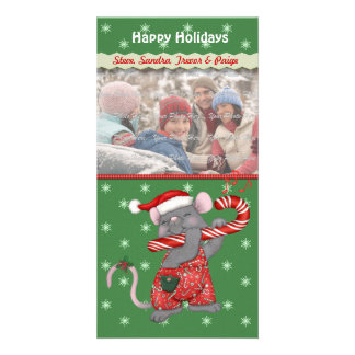 Christmas Music Mouse Picture Card
