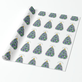 Christmas Napa Valley Wine Grapes Tree Wrapping Paper