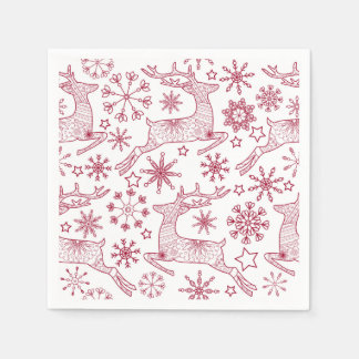 Christmas napkin with deers disposable napkin