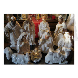 Christmas Nativity Blessings Greeting Card