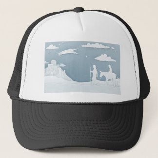 Christmas Nativity Mary Joseph and Bethlehem Trucker Hat