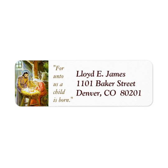 Christmas Nativity Return Address Label