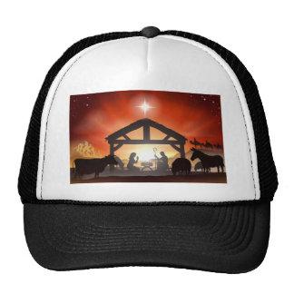 Christmas Nativity Scene Mesh Hats