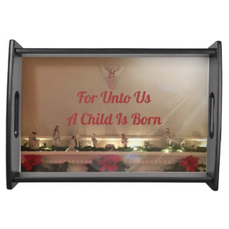 Christmas Nativity Scene Inspirational Quotes Serving Tray