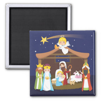 Christmas Nativity Scene Magnet