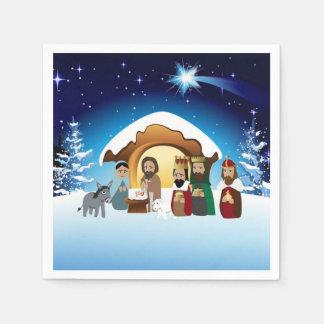 Christmas Nativity Scene Paper Napkins