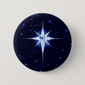 Christmas Nativity Star 2 Inch Round Button