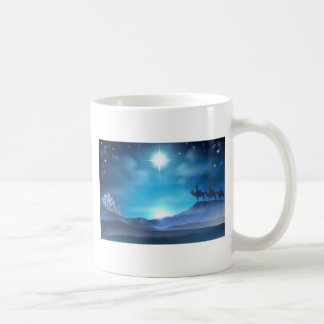 Christmas Nativity Star and Wise Men Coffee Mugs