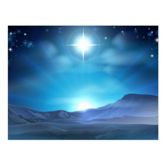Christmas Nativity Star of Bethlehem Postcard