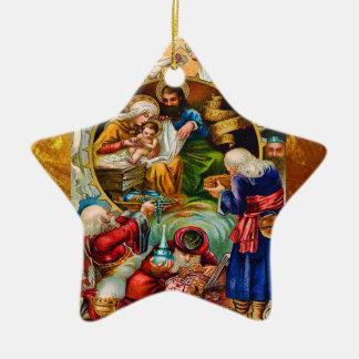 Christmas Nativity Star Ornament