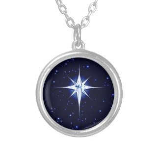 Christmas Nativity Star Silver Plated Necklace