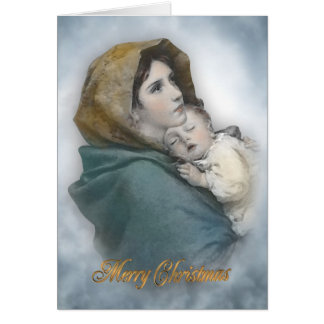 Christmas nativity The Madonna religious card