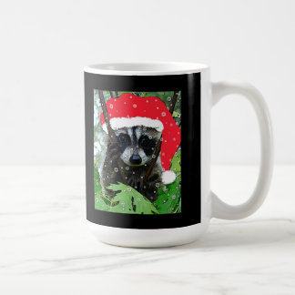 """Christmas """"Naughty"""" Raccoon Mug"""