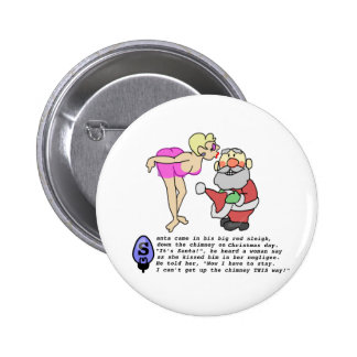Christmas Negligee 2 Inch Round Button