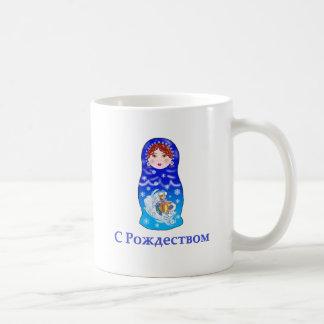 Christmas Nesting Doll Classic White Coffee Mug