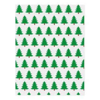 christmas new design green white postcard