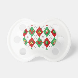 christmas new design red green pacifier