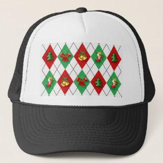 christmas new design red green trucker hat