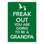 Christmas New Grandpa Pregnancy Announcement Card