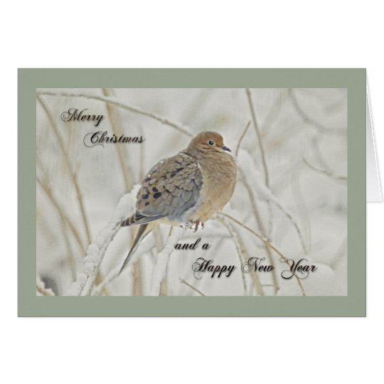 Christmas & New Year Greeting - Mourning Dove Card