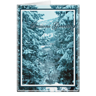 Christmas, New Year, Holiday - Snow Covered Trees Card