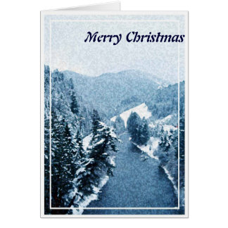 Christmas, New Year, Holiday - Trees on the River Card
