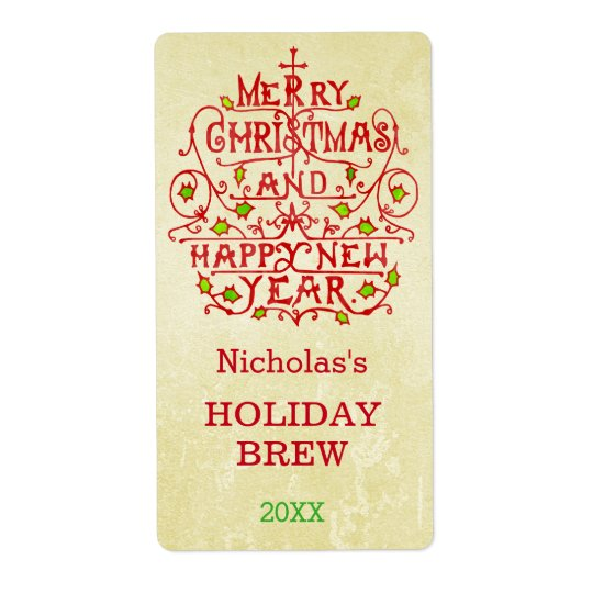Christmas New Year Vintage Typography Personalized