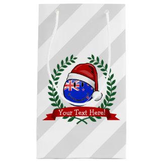 Christmas New Zealand Style Smiling Flag Small Gift Bag