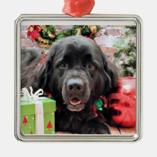 Christmas - Newfoundland - Izzie Metal Ornament