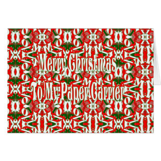 Christmas Newspaper Carrier Card