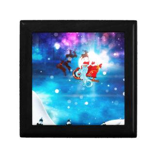 Christmas Night and Santa Gift Box