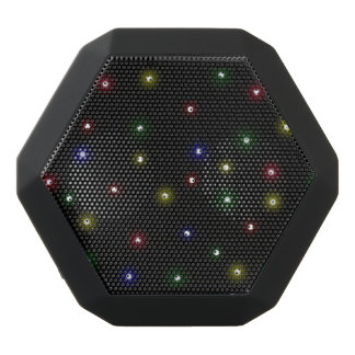 Christmas Night Lights Design Black Bluetooth Speaker