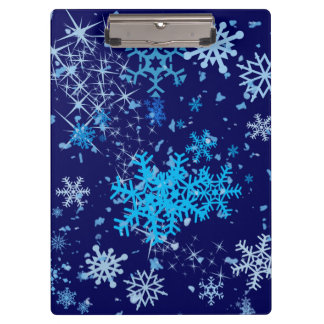 Christmas Night Snowfall Clipboard