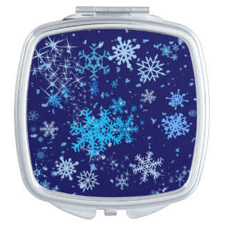 Christmas Night Snowfall Mirror For Makeup