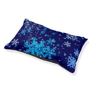 Christmas Night Snowfall Pet Bed