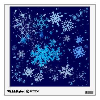 Christmas Night Snowfall Wall Sticker