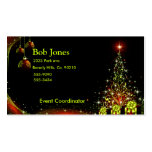 Christmas Night Wonderland Green Set Pack Of Standard Business Cards
