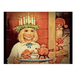 Christmas Nisse and Lucia Day Karin Postcard