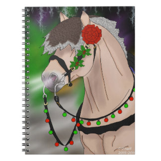 Christmas Norwegian Fjord Horse Notebooks