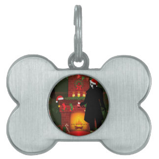 christmas nosferatu pet tag
