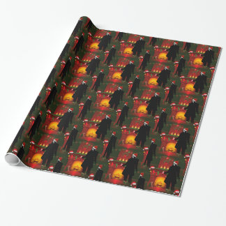 christmas nosferatu wrapping paper