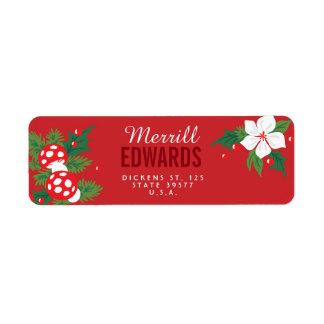 Christmas Nostalgia Return Address Label