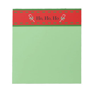 Christmas notepad in festive holiday colors