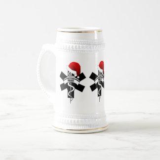 Christmas Nurse Holidays Beer Stein