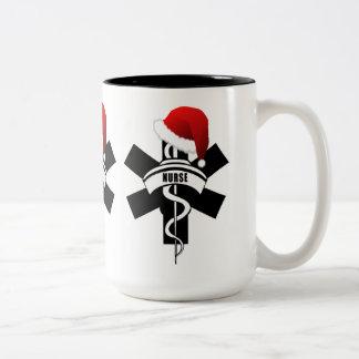 Christmas Nurse Holidays Two-Tone Coffee Mug
